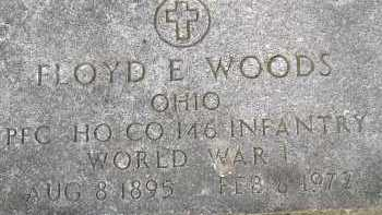 WOODS, FLOYD E. - Allen County, Ohio   FLOYD E. WOODS - Ohio Gravestone Photos