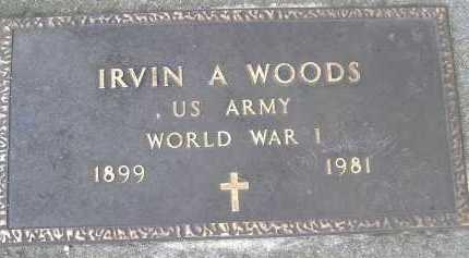 WOODS, IRVIN A. - Allen County, Ohio   IRVIN A. WOODS - Ohio Gravestone Photos