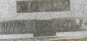 WOODS, BERTHA M. - Allen County, Ohio | BERTHA M. WOODS - Ohio Gravestone Photos