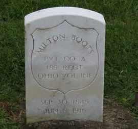 BOOTS, MILTOM - Ashland County, Ohio | MILTOM BOOTS - Ohio Gravestone Photos