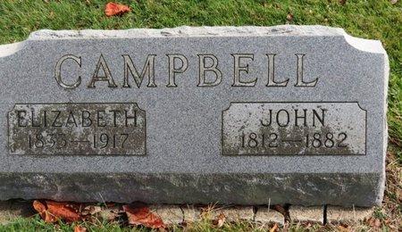 CAMPBELL, ELIZABETH - Ashland County, Ohio   ELIZABETH CAMPBELL - Ohio Gravestone Photos