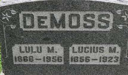 DEMOSS, LUCIUS M. - Ashland County, Ohio   LUCIUS M. DEMOSS - Ohio Gravestone Photos