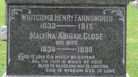 FARNSWORTH, WHITCOMB HENRY - Ashland County, Ohio   WHITCOMB HENRY FARNSWORTH - Ohio Gravestone Photos