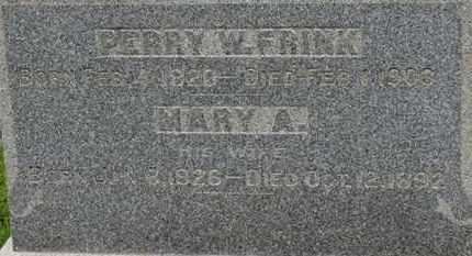 FRINK, PERRY W. - Ashland County, Ohio | PERRY W. FRINK - Ohio Gravestone Photos