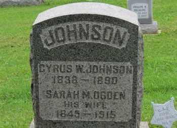 JOHNSON, CYRUS W. - Ashland County, Ohio   CYRUS W. JOHNSON - Ohio Gravestone Photos