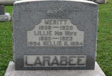 LARABEE, MERITT - Ashland County, Ohio   MERITT LARABEE - Ohio Gravestone Photos