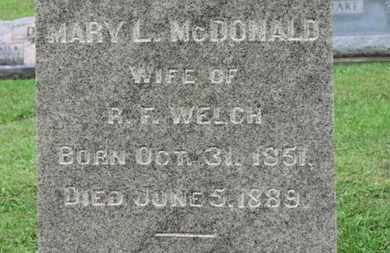 MCDONALD, MARY L. - Ashland County, Ohio   MARY L. MCDONALD - Ohio Gravestone Photos