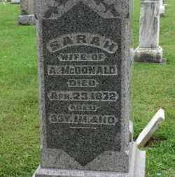 MCDONALD, SARAH - Ashland County, Ohio | SARAH MCDONALD - Ohio Gravestone Photos