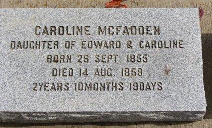 MCFADDEN, CAROLINE - Ashland County, Ohio   CAROLINE MCFADDEN - Ohio Gravestone Photos