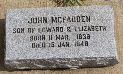MCFADDEN, JOHN - Ashland County, Ohio   JOHN MCFADDEN - Ohio Gravestone Photos