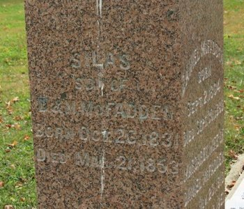 MCFADDEN, SILAS - Ashland County, Ohio | SILAS MCFADDEN - Ohio Gravestone Photos