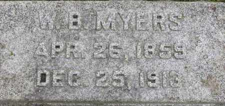 MYERS, W.B. - Ashland County, Ohio   W.B. MYERS - Ohio Gravestone Photos