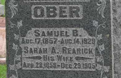 OBER, SAMUEL B. - Ashland County, Ohio | SAMUEL B. OBER - Ohio Gravestone Photos