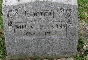 PERSONS, WILLIS F. - Ashland County, Ohio | WILLIS F. PERSONS - Ohio Gravestone Photos
