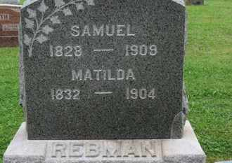 REBMAN, SAMUEL - Ashland County, Ohio | SAMUEL REBMAN - Ohio Gravestone Photos