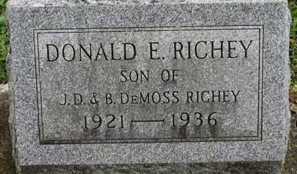 RICHEY, DONALD E. - Ashland County, Ohio | DONALD E. RICHEY - Ohio Gravestone Photos