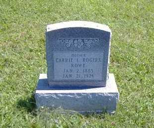 ROGERS ROWE, CARRIE - Ashland County, Ohio   CARRIE ROGERS ROWE - Ohio Gravestone Photos