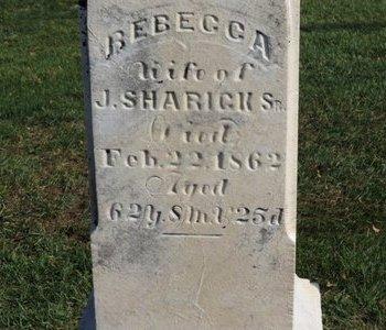 SHARICK, REBECCA - Ashland County, Ohio | REBECCA SHARICK - Ohio Gravestone Photos