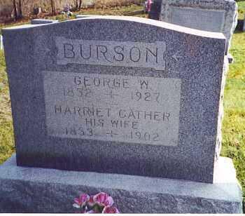 BURSON, HARRIETT - Athens County, Ohio | HARRIETT BURSON - Ohio Gravestone Photos