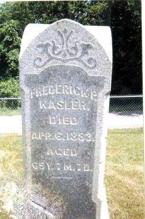 KASLER, FREDERICK P. - Athens County, Ohio   FREDERICK P. KASLER - Ohio Gravestone Photos