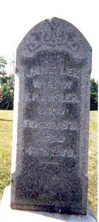 KASLER, JANE LEE - Athens County, Ohio | JANE LEE KASLER - Ohio Gravestone Photos