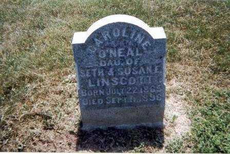 O'NEAL LINSCOTT, CAROLINE - Athens County, Ohio | CAROLINE O'NEAL LINSCOTT - Ohio Gravestone Photos