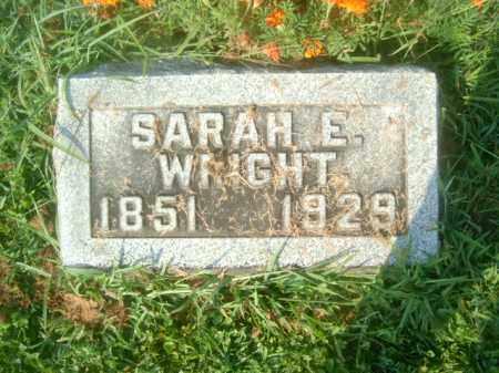 WRIGHT, SARAH E. - Athens County, Ohio   SARAH E. WRIGHT - Ohio Gravestone Photos