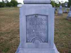 AMANN, CHRISTINA - Auglaize County, Ohio | CHRISTINA AMANN - Ohio Gravestone Photos