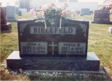 ZORN BIELEFELD, FREDA MAY - Auglaize County, Ohio | FREDA MAY ZORN BIELEFELD - Ohio Gravestone Photos