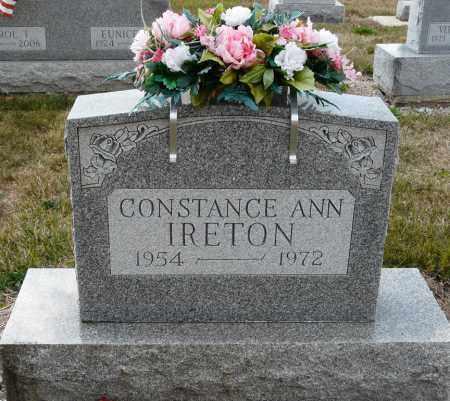 IRETON, CONSTANCE ANN - Auglaize County, Ohio | CONSTANCE ANN IRETON - Ohio Gravestone Photos