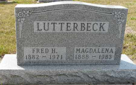 LUTTERBECK, MAGDELENA SOPHIA - Auglaize County, Ohio | MAGDELENA SOPHIA LUTTERBECK - Ohio Gravestone Photos