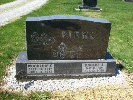 PIEHL, WOODROW G. - Auglaize County, Ohio | WOODROW G. PIEHL - Ohio Gravestone Photos