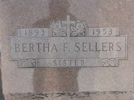 SELLERS, BERTHA F. - Auglaize County, Ohio | BERTHA F. SELLERS - Ohio Gravestone Photos