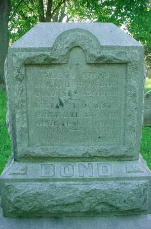 BOND, ALLEN - Belmont County, Ohio   ALLEN BOND - Ohio Gravestone Photos