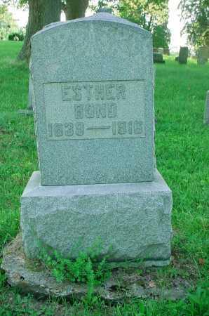 BOND, ESTHER - Belmont County, Ohio | ESTHER BOND - Ohio Gravestone Photos