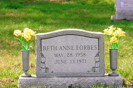FORBES, BETH ANNE - Belmont County, Ohio   BETH ANNE FORBES - Ohio Gravestone Photos