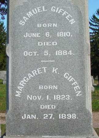 GIFFEN, MARGARET - Belmont County, Ohio   MARGARET GIFFEN - Ohio Gravestone Photos