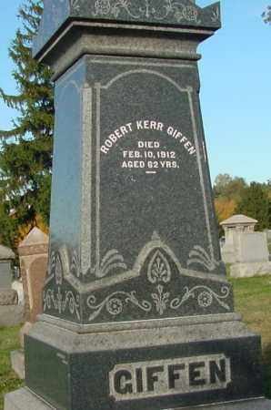 GIFFEN, ROBERT KERR - Belmont County, Ohio | ROBERT KERR GIFFEN - Ohio Gravestone Photos