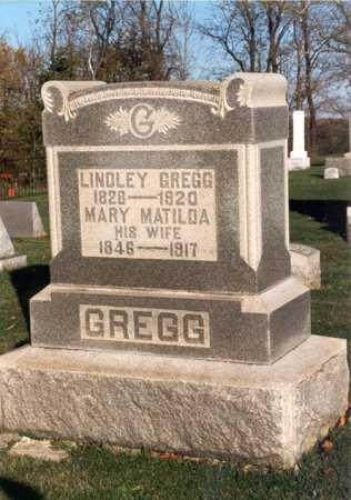 LINGO GREGG, MARY MATILDA - Belmont County, Ohio   MARY MATILDA LINGO GREGG - Ohio Gravestone Photos