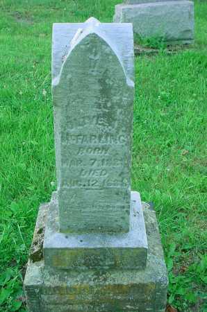 MCFARLING, UNKNOWN - Belmont County, Ohio   UNKNOWN MCFARLING - Ohio Gravestone Photos