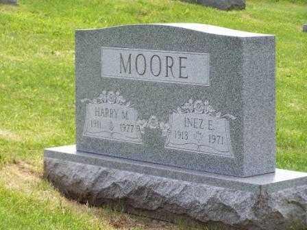 MOORE, INEZ E - Belmont County, Ohio | INEZ E MOORE - Ohio Gravestone Photos