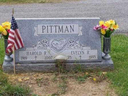 PITTMAN, HAROLD R - Belmont County, Ohio   HAROLD R PITTMAN - Ohio Gravestone Photos