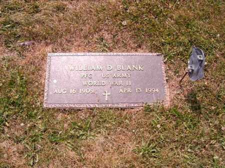 BLANK, WILLIAM D - Brown County, Ohio   WILLIAM D BLANK - Ohio Gravestone Photos