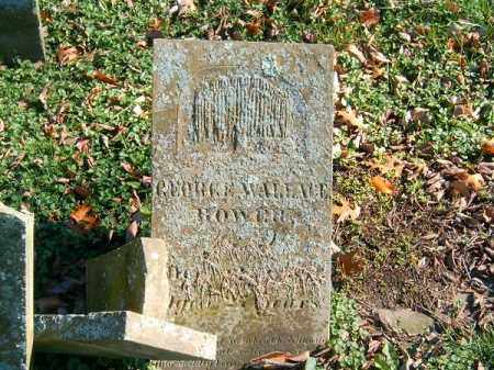 BOWER, GEORGE  WALLACE - Brown County, Ohio | GEORGE  WALLACE BOWER - Ohio Gravestone Photos