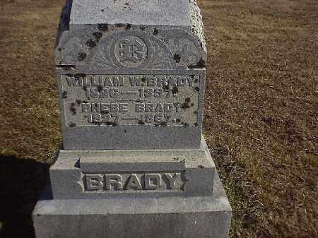 BRADY, WILLIAM  W - Brown County, Ohio | WILLIAM  W BRADY - Ohio Gravestone Photos