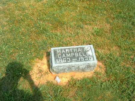 CAMPBELL, MARTHA A - Brown County, Ohio   MARTHA A CAMPBELL - Ohio Gravestone Photos