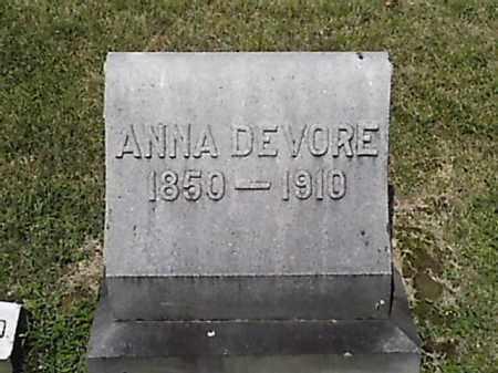 DEVORE, ANNA - Brown County, Ohio | ANNA DEVORE - Ohio Gravestone Photos