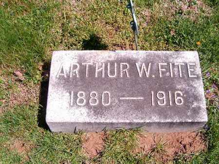 FITE, ARTHUR  W - Brown County, Ohio   ARTHUR  W FITE - Ohio Gravestone Photos
