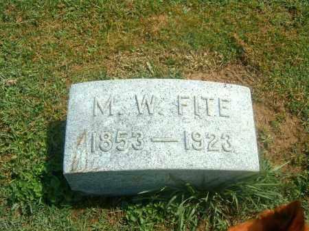 FITE, M   W - Brown County, Ohio   M   W FITE - Ohio Gravestone Photos