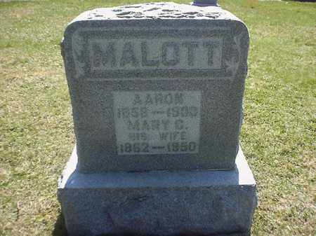 MALOTT, AARON - Brown County, Ohio | AARON MALOTT - Ohio Gravestone Photos